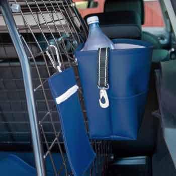 Blå bagageväska