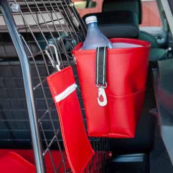 Röd bagageväska