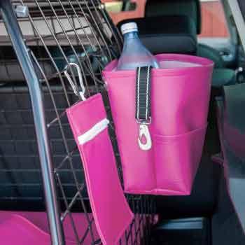 Rosa bagageväska