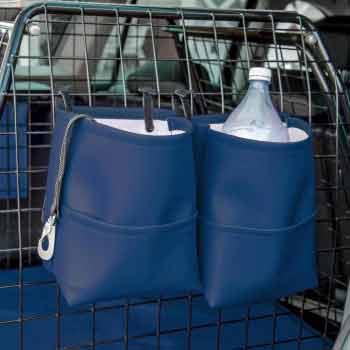 Blå bagageväskor
