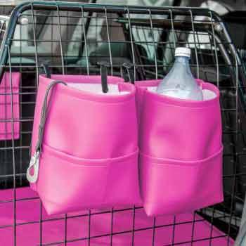 Rosa bagageväskor